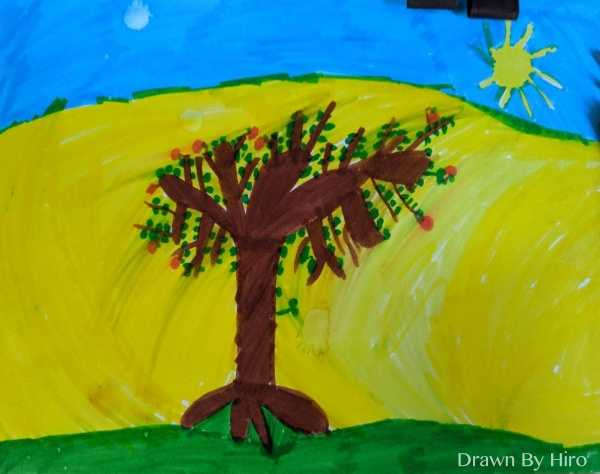 [繪圖] 太陽下的樹