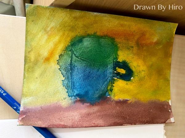 [繪畫] 水彩-兩種花、食人花追的人、炸毛杯子