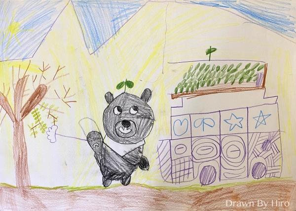 [繪圖] 黑熊來採收葉子
